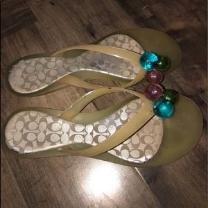 Coach Jelly Sandals with 3 Marbles Sequins